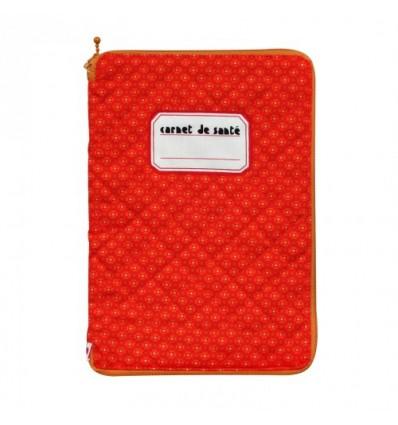 Protège carnet de santé Petit Pan Jalila orange