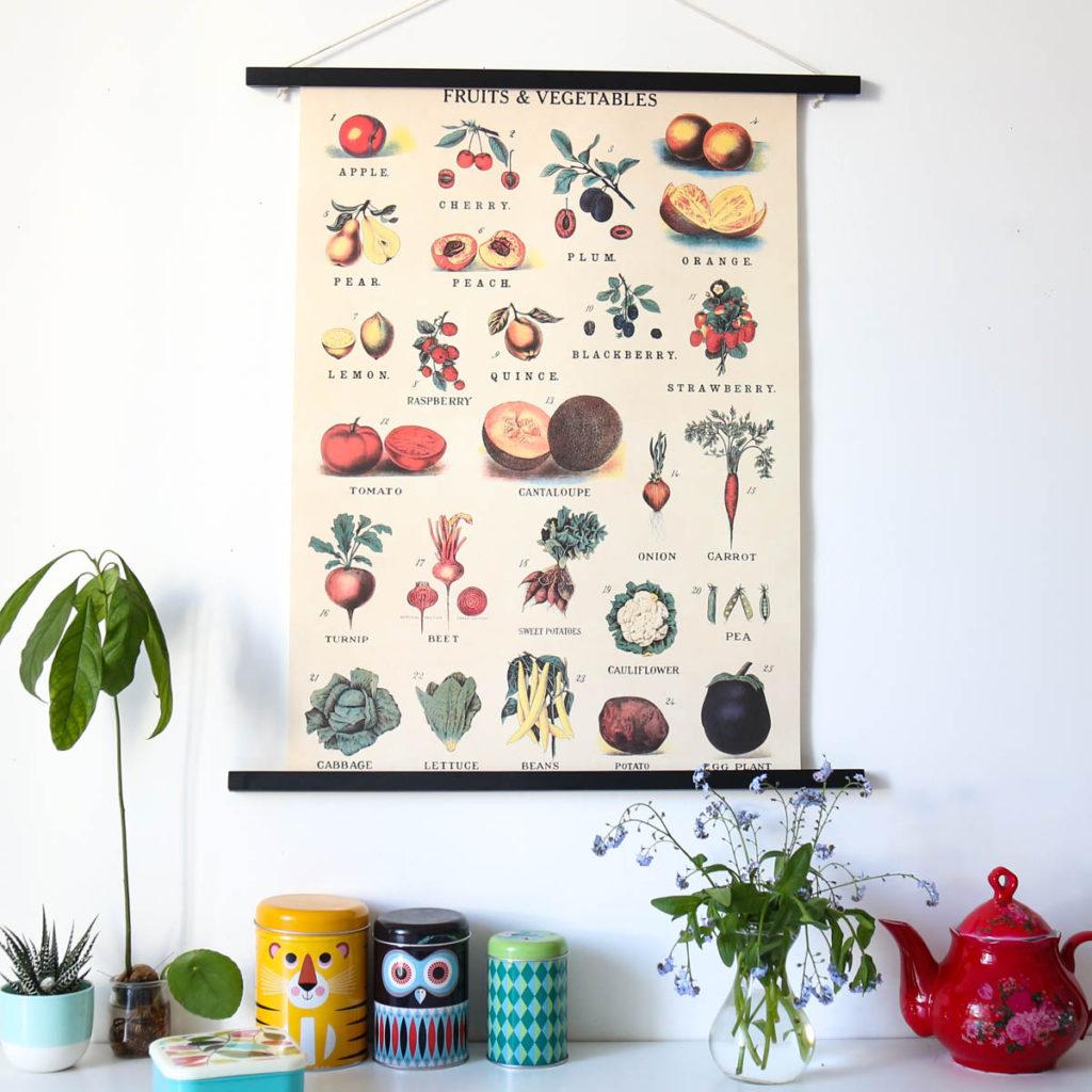 affiche fruits et légumes