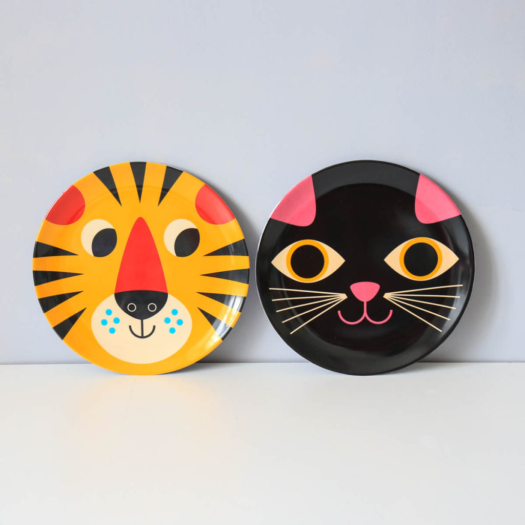 assiettes chat et tigre ingela arrhenius