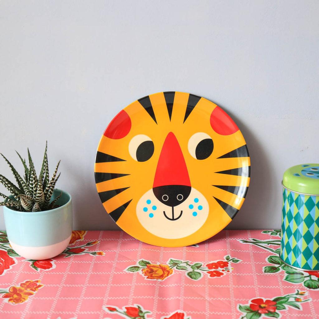 assiette tigre omm design Ingela P Arrhenius