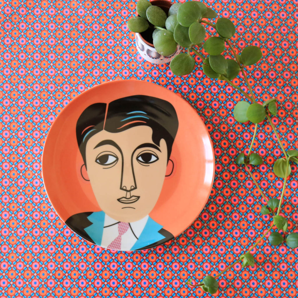 assiette portrait Ingela P Arrhenius