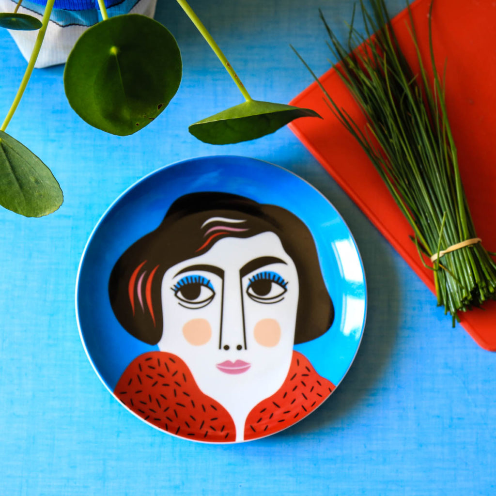 assiette portrait Ingela P Arrhenius kitsch kitchen